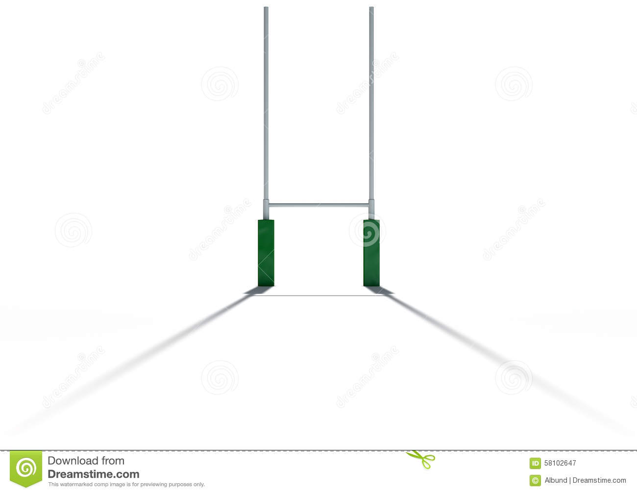 Rugby Posts Clipart.