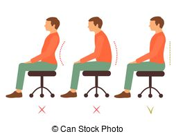 Good posture Clip Art and Stock Illustrations. 347 Good posture.