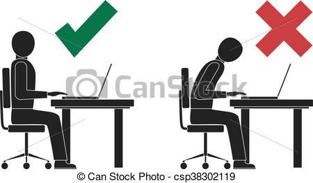 Correct posture vector Vector Clipart Illustrations. 116 Correct.