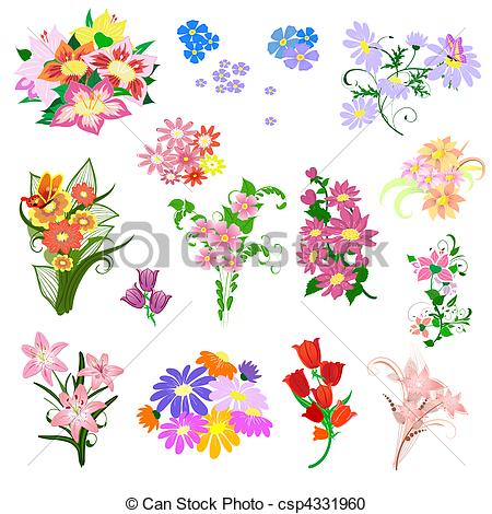 Bunch flowers posy bouquet nosegay flower flowers floral Clip Art.