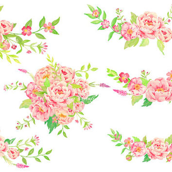 Watercolor wedding clipart.