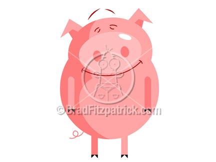 Pot Belly Pig Clipart.