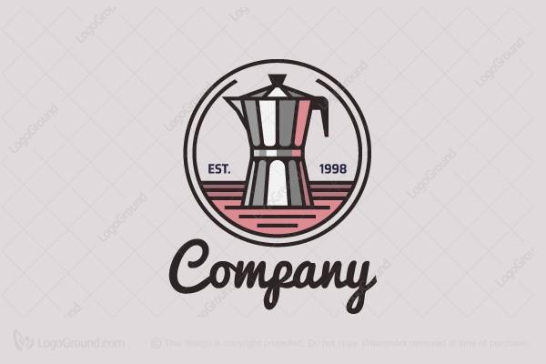 Exclusive Logo 154284, Moka Pot Logo.