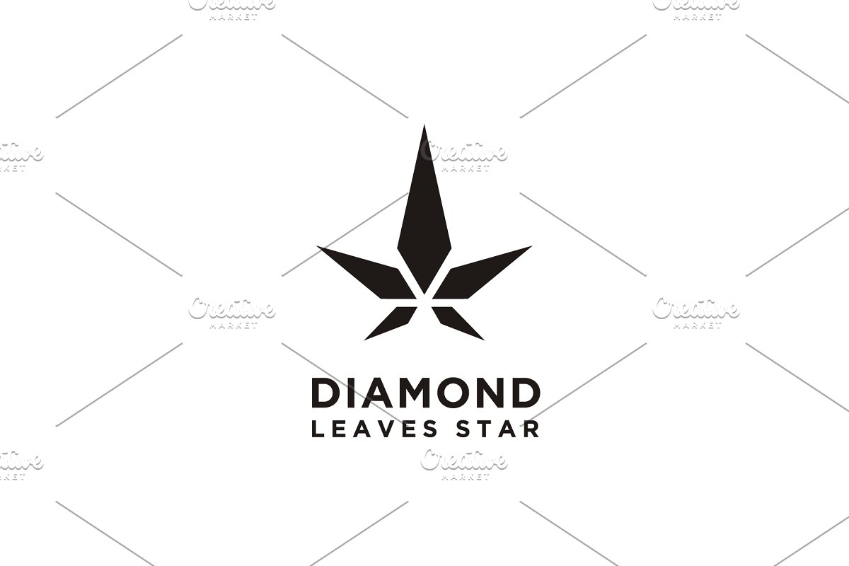 Diamond Star Cannabis Pot Leaf logo.