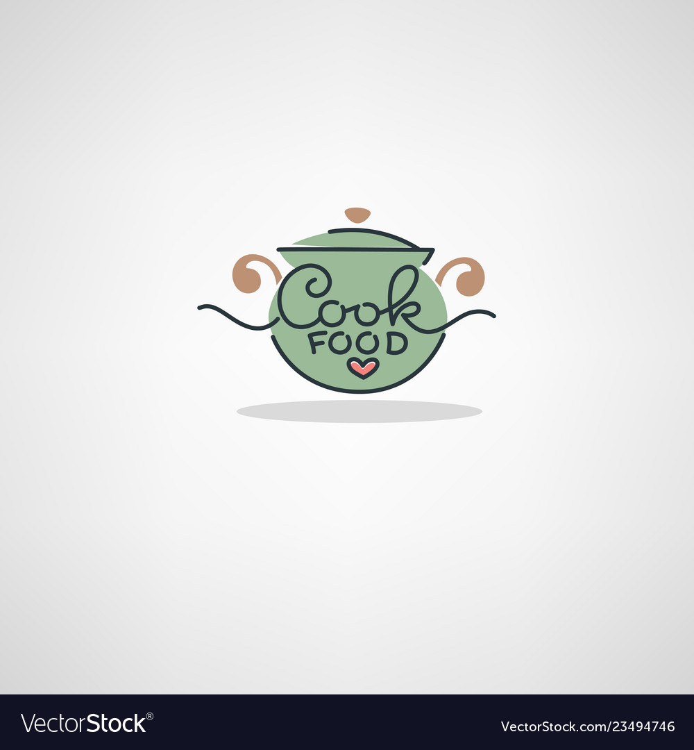Home food logo image of cooking pot and hand.