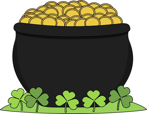 Rainbow And Pot Of Gold Clipart.