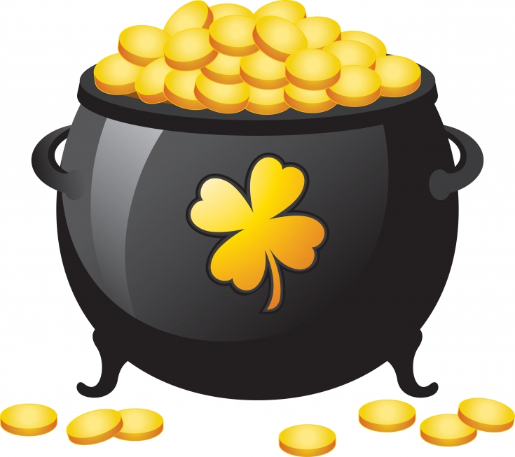 92+ Pot Of Gold Clipart.