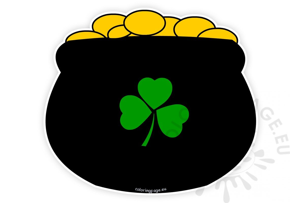 Pot Of Gold Picture St Patrick\'s Day Clipart.