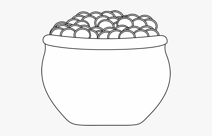 Black And White Pot Of Gold Clip Art.