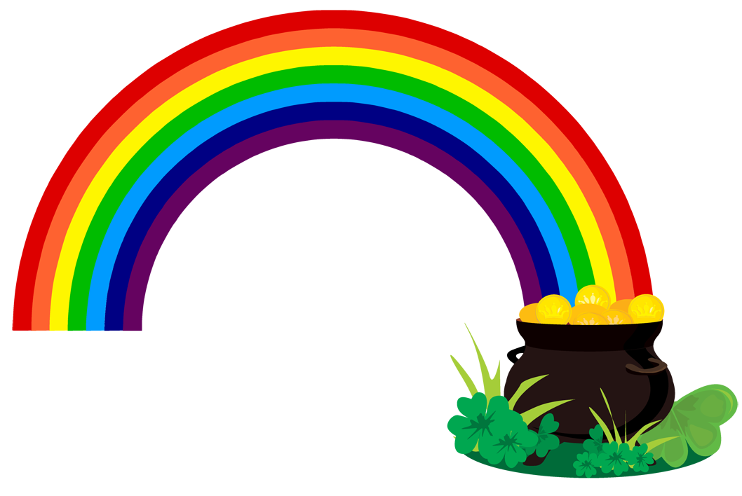 Rainbow Pot Of Gold Clipart Free.