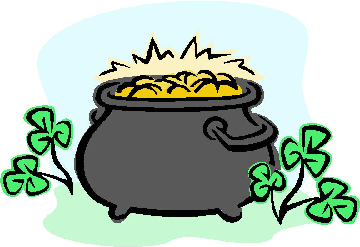 Pot Of Gold Clipart Awesome Free Leprechaun Pot Gold Clipart.