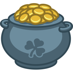 Pot of gold Icon.
