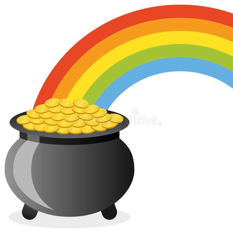 Pot Of Gold At The End Of The Rainbow Clipart.