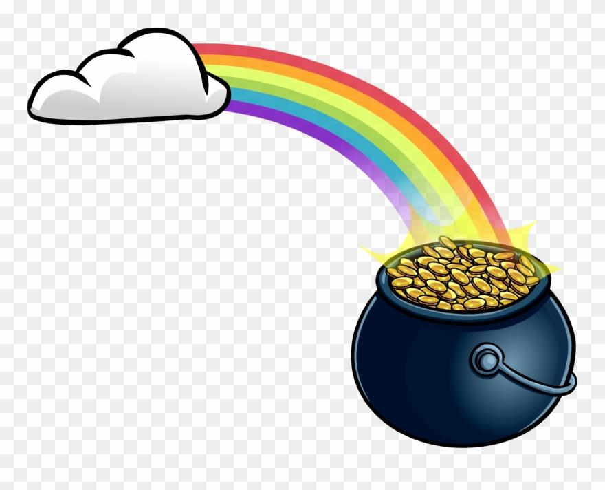 Rainbow With Pot \' Gold Club Penguin Wiki Fandom.
