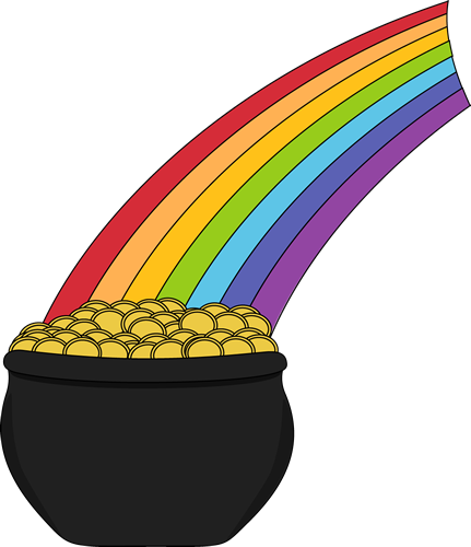Free Rainbow And Pot Of Gold Clipart, Download Free Clip Art.