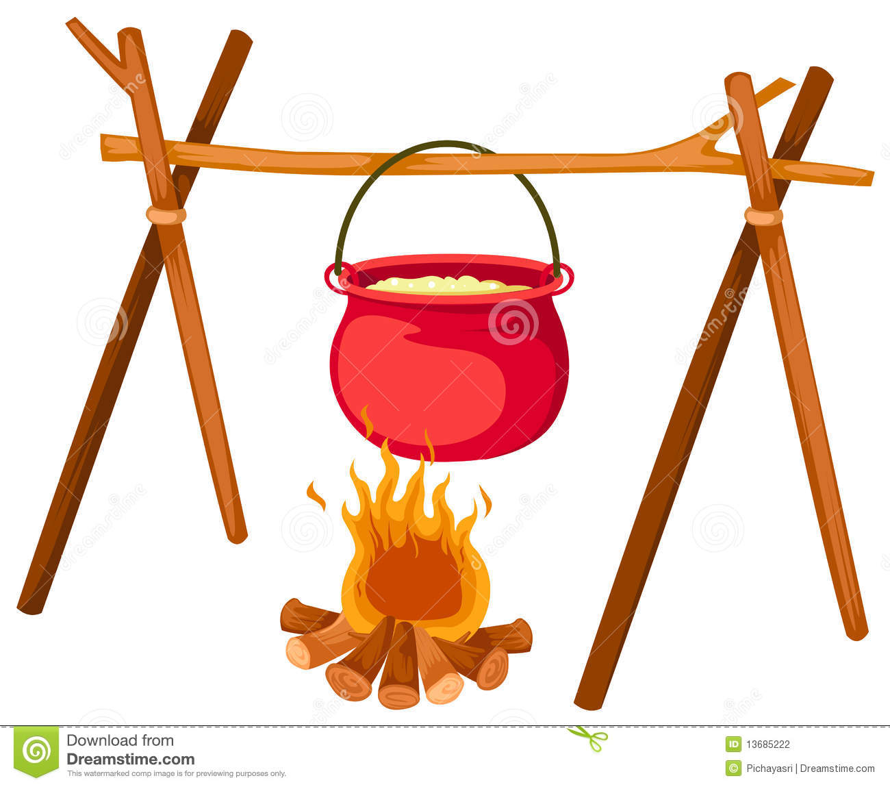Cooking pot on fire clipart 8 » Clipart Station.