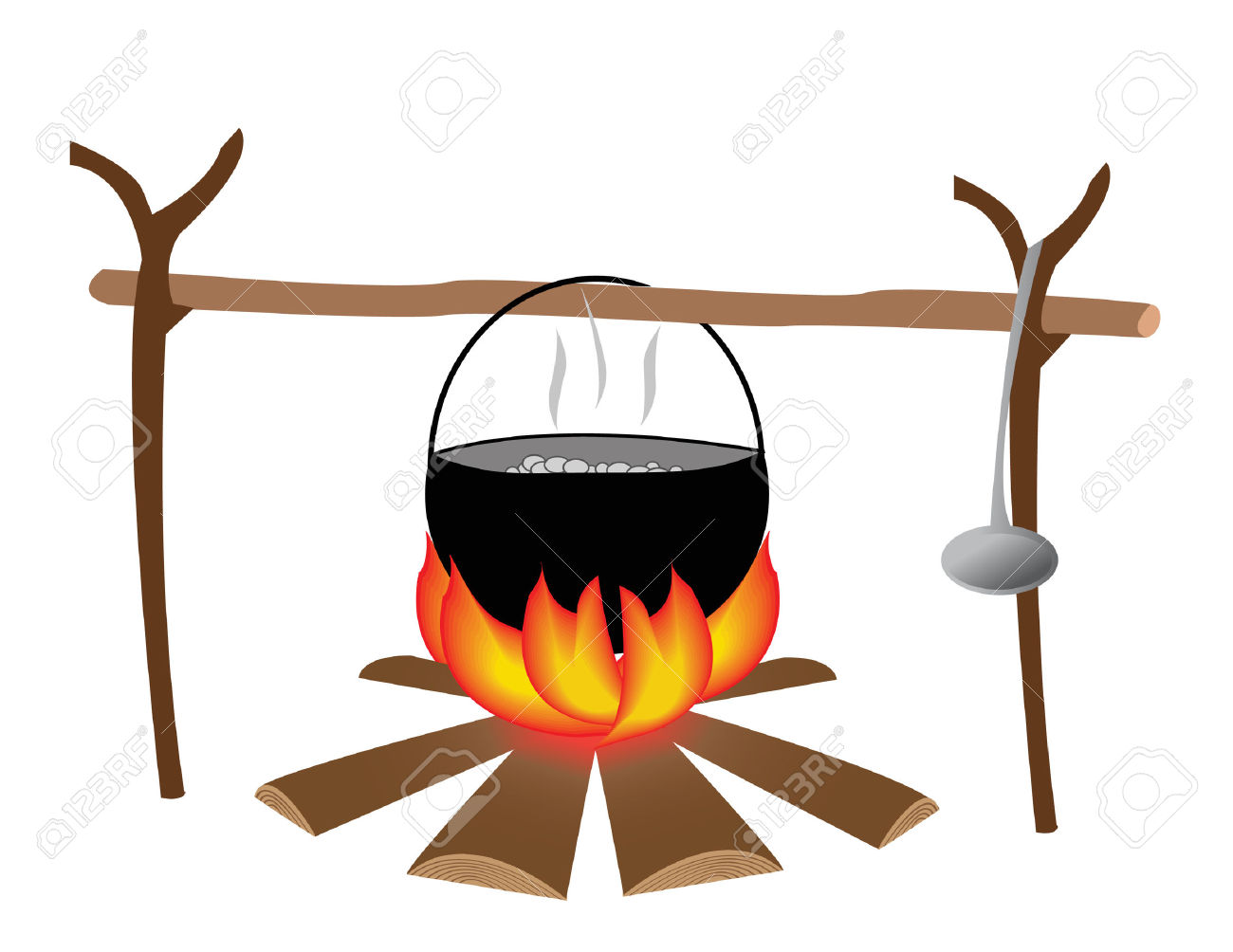 Cooking pot on fire clipart 2 » Clipart Station.
