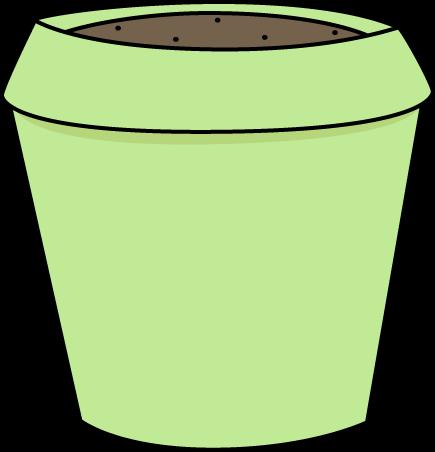 Green Flower Pot Clip Art.