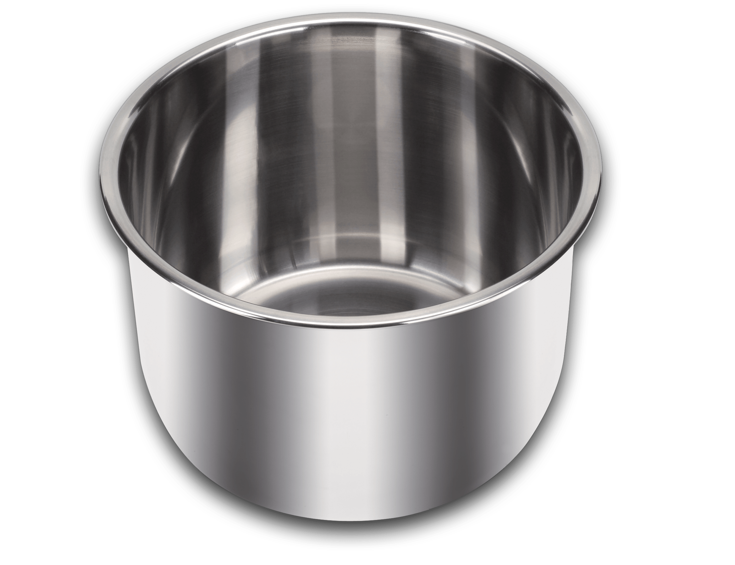 Silver Cooking Pot transparent PNG.
