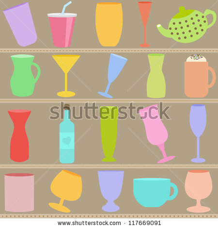 Pink Tools Cleaning Squeegee Sponge Spray Stock Vector 281322647.