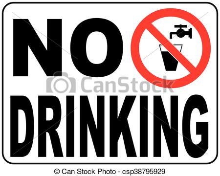 Vector Illustration of Not drinking water sign.