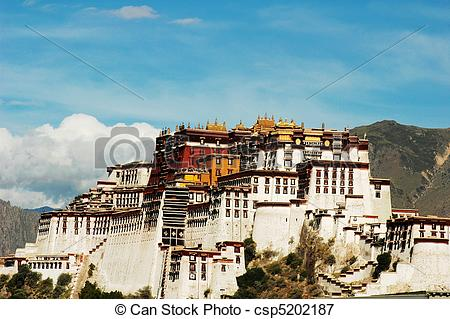 Picture of Landmarks of the Potala Palace in Lhasa Tibet.