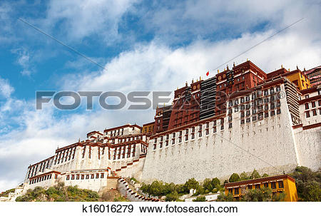 Stock Photograph of The Potala palace in the morning sun k16016279.