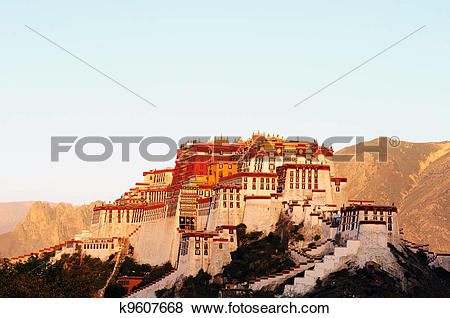 Pictures of Landmark of the famous Potala Palace in Lhasa Tibet.