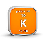 Stock Photography of Potassium material sign k12825721.