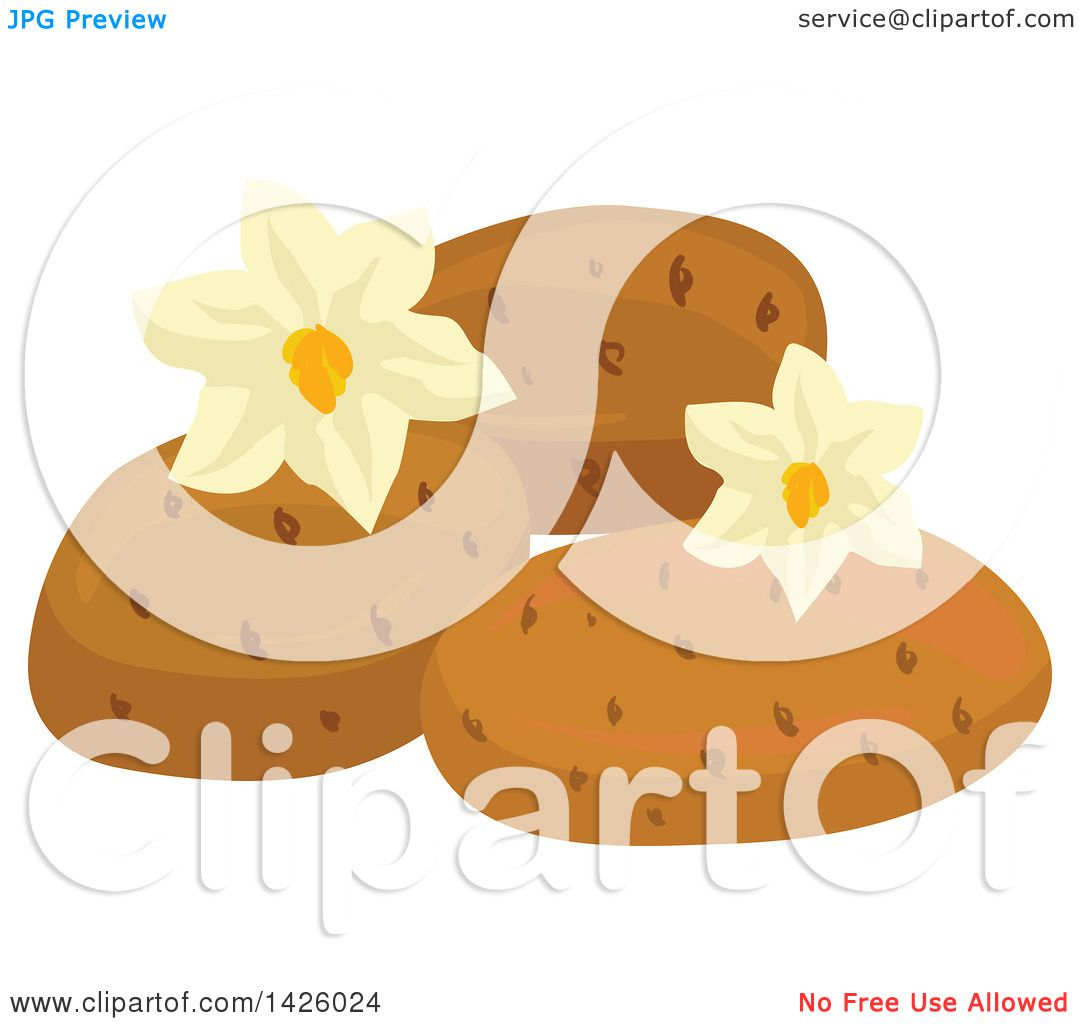 Clipart of Blossoms and Potatoes.