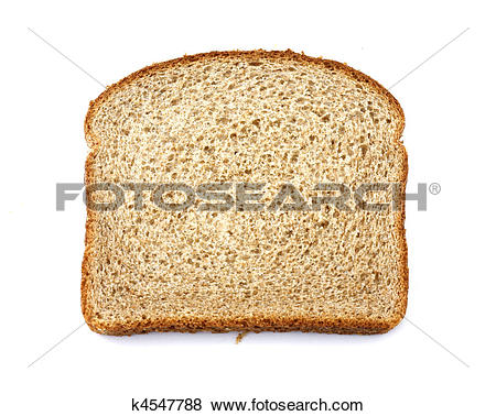 Pictures of Stone ground whole wheat bread slice k4547788.