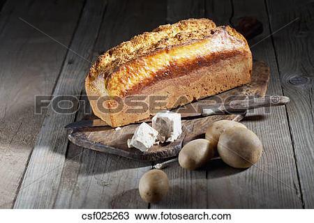 "Stock Photo of ""Potato bread, yeast and potatoes"" csf025263."