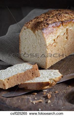 Stock Image of Sliced potato bread csf025265.