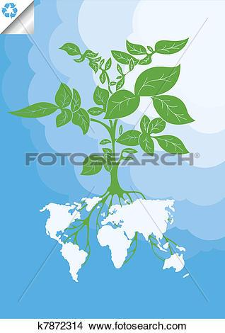 Clipart of Potato plant bush vector concept k7872314.