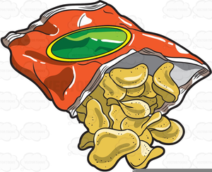Bag Of Potato Chip Clipart.