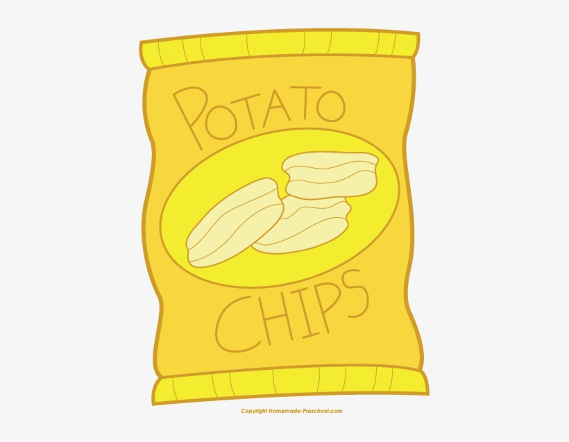 Potato Chips Clipart Snack.