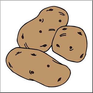 Clip Art: Potatoes Color I abcteach.com.