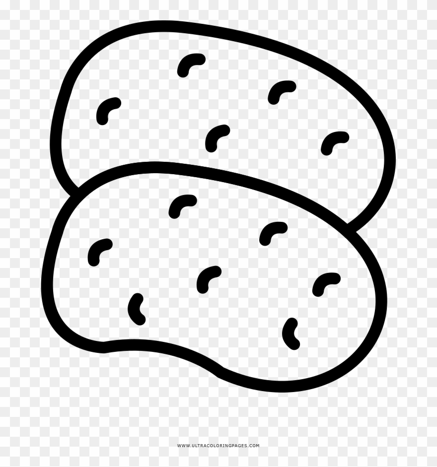 Potatoes Coloring Page.