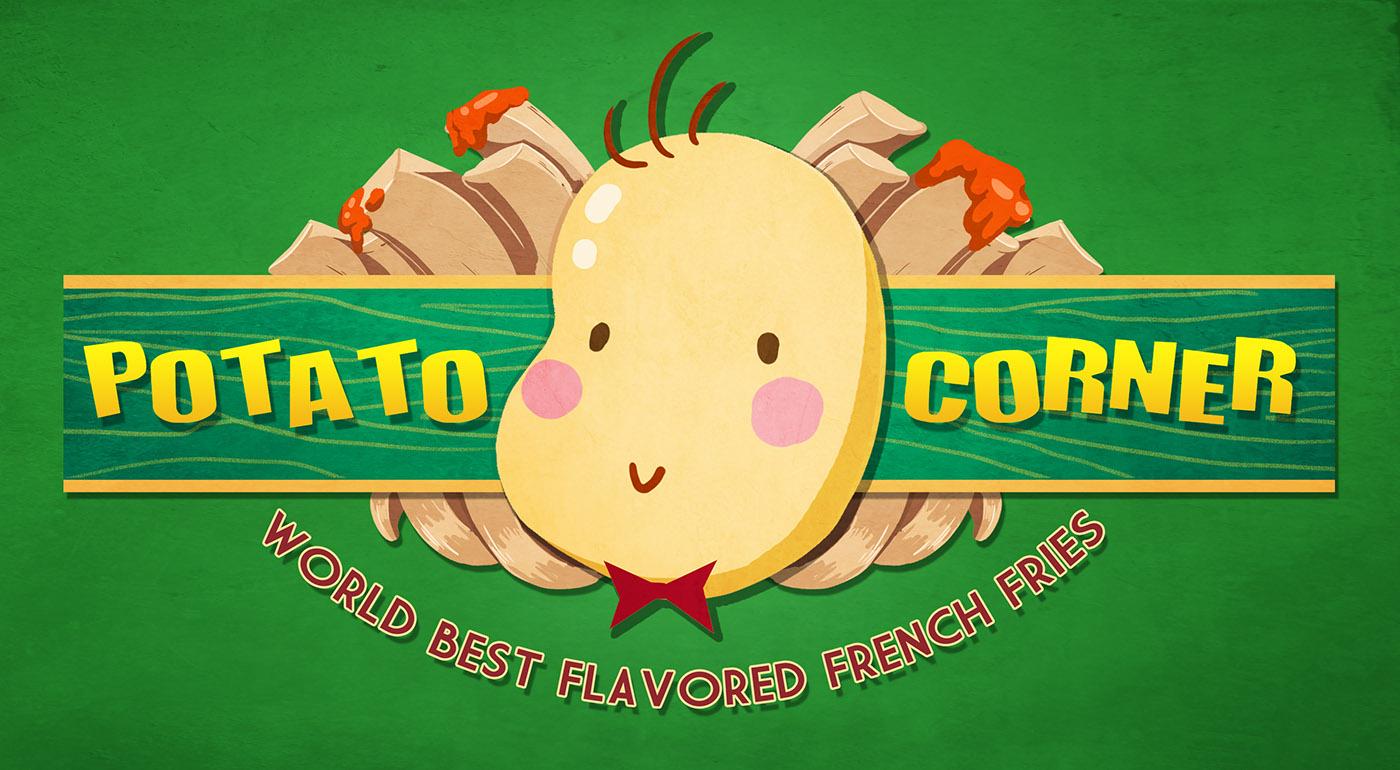 Potato Corner on Behance.