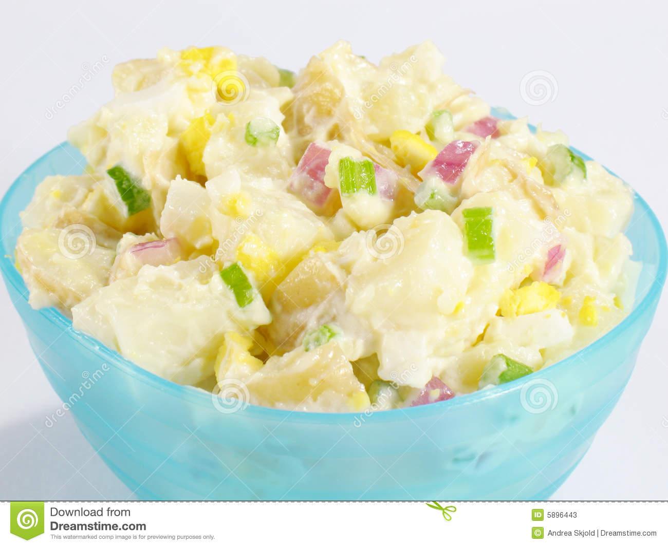 Bowl Of Potato Salad Stock Photos.