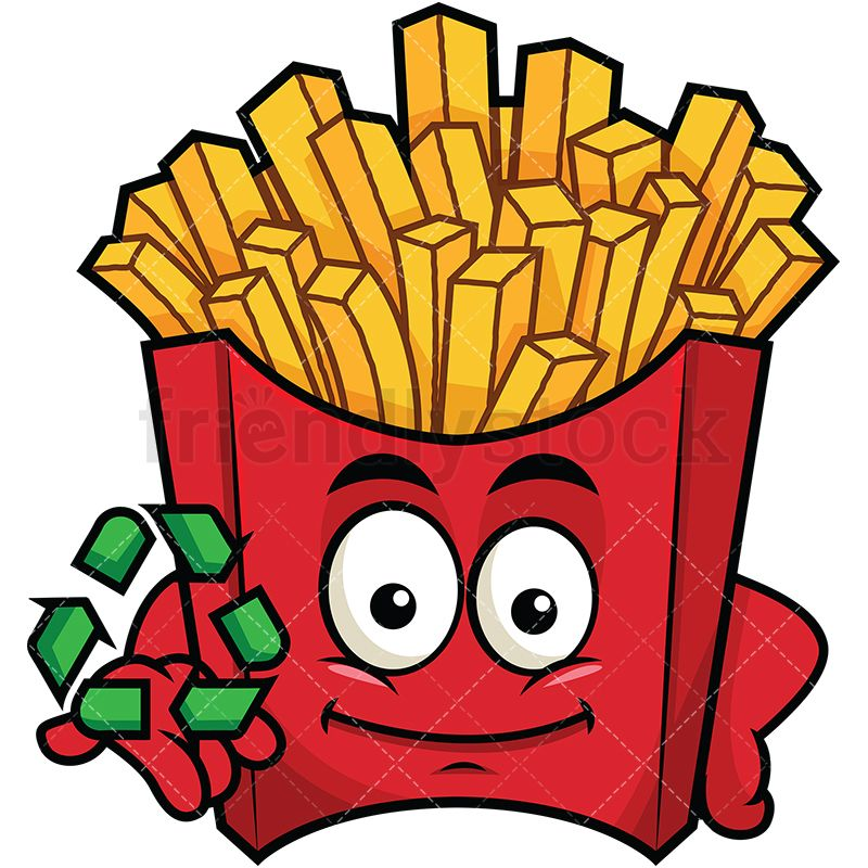 French Fries Emoji With Recycle Icon in 2019.