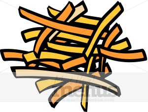 Sweet Potato Fries Clipart.