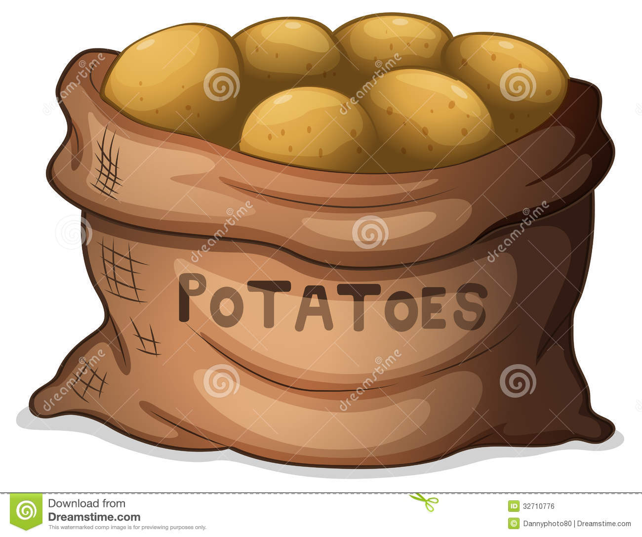 A Sack Of Potatoes Royalty Free Stock Image.