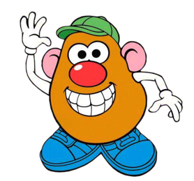 Mr and mrs potato head clipart.