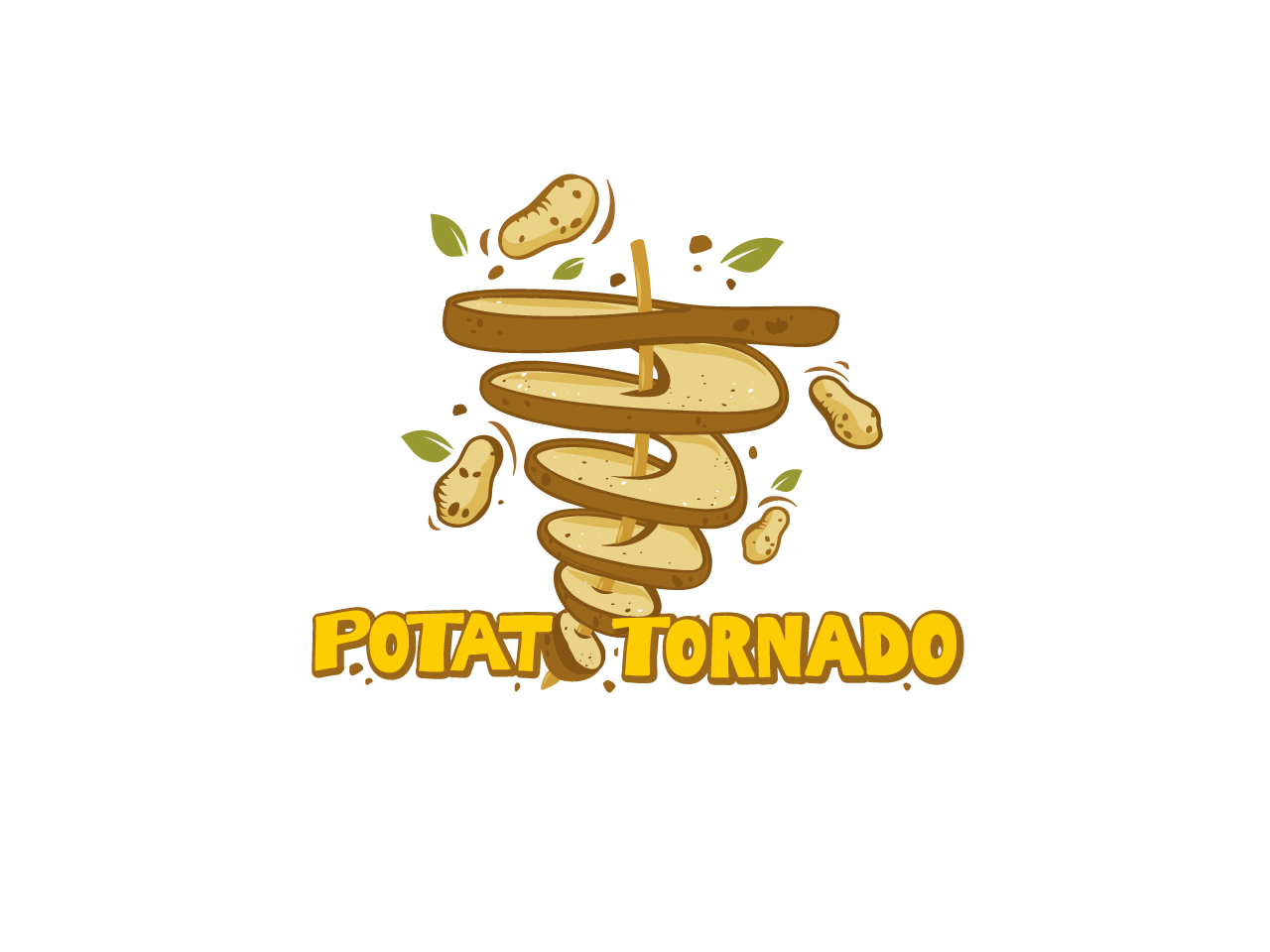 potato tornado logo spiral potato hut.