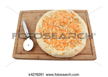 Stock Photography of Gourmet potato pizza k4276291.
