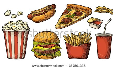 Pizza Cola Stock Images, Royalty.