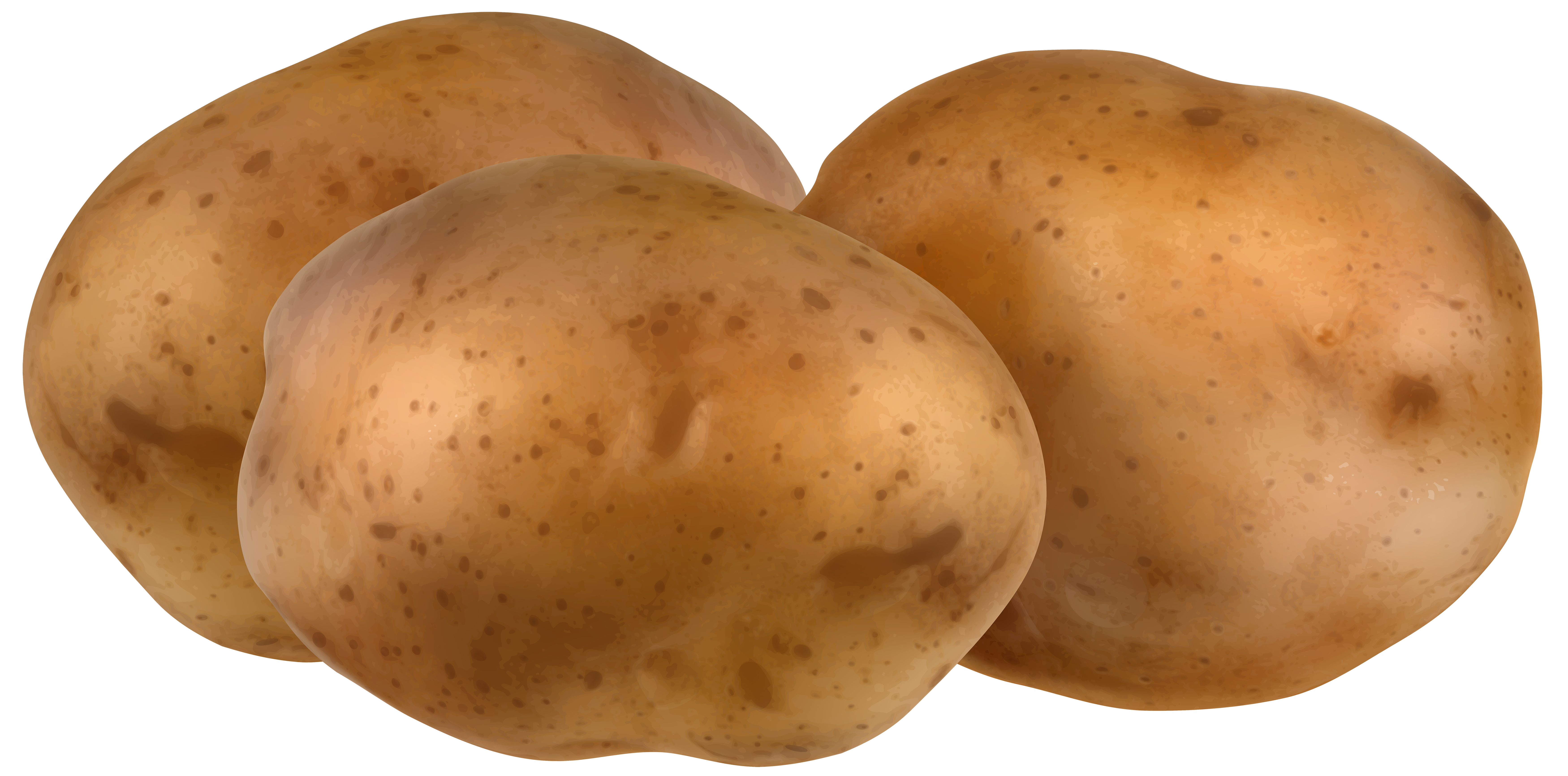 Potatoes Transparent PNG Clip Art Image.