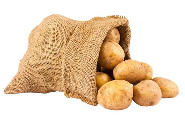 Sack of potatoes clipart.