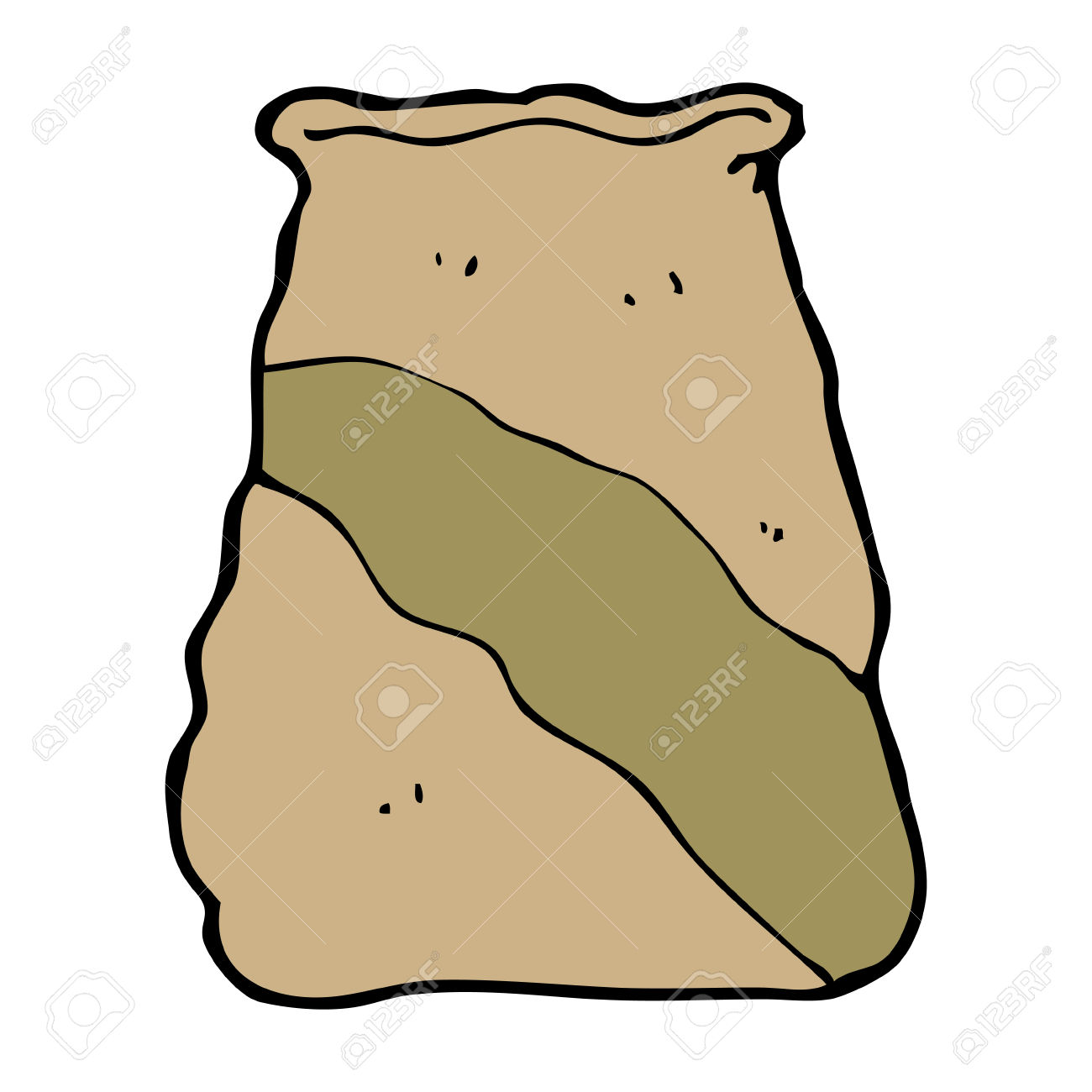 Cartoon Sack Of Potatoes Royalty Free Cliparts, Vectors, And Stock.